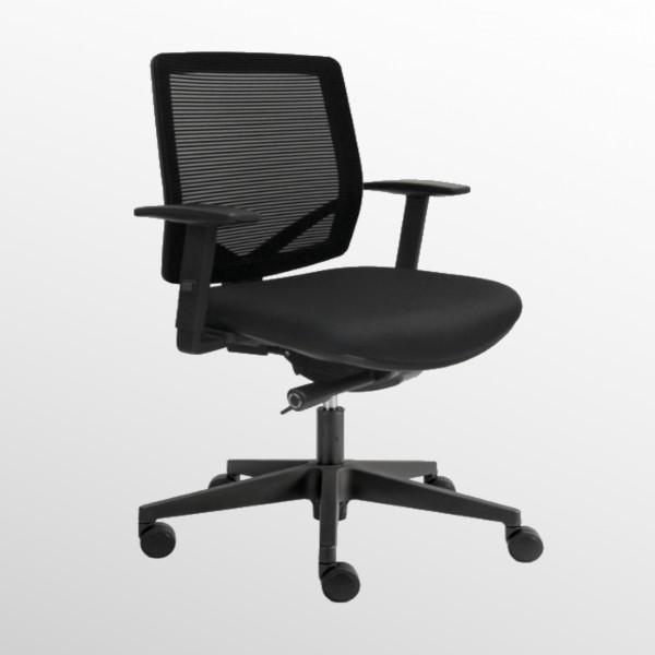 Günstiger Bürodrehstuhl mit Netzrücken und Komfortsitz - Homeoffice-Drehstuhl