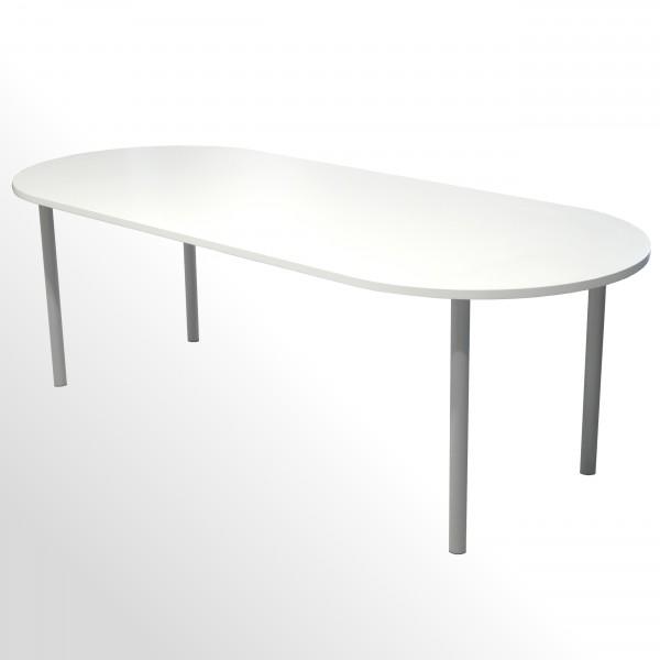 Günstiger Besprechungs- und Konferenztisch - Weiß - 2400 x 1000 mm