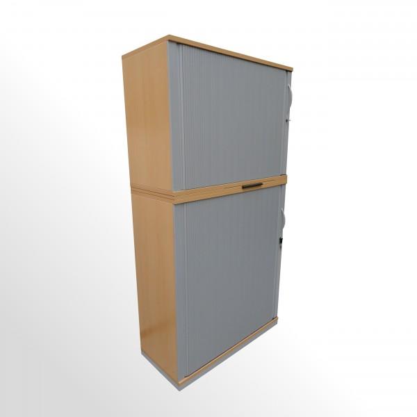 Gebrauchter Steelcase Rollladenschrank - Aktenschrank - 2-teilig - Ahorn Dekor