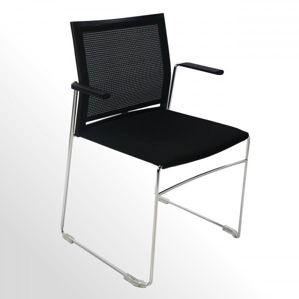Günstiger Besucherstuhl - Praxisstuhl - Wartezimmerstuhl mit Armlehnen