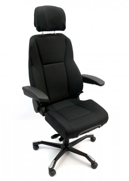 Bürodrehstuhl - Leitstellenstuhl - Xtreme-Stoff schwarz