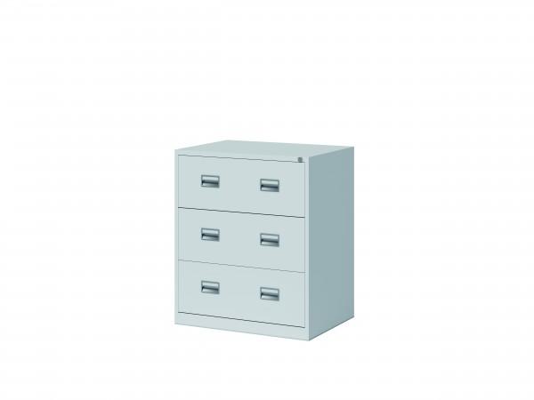 Bisley Hängeregistraturschrank ECO, doppelbahnig, DIN A4, 3 HR-Schubladen, Farbe lichtgrau