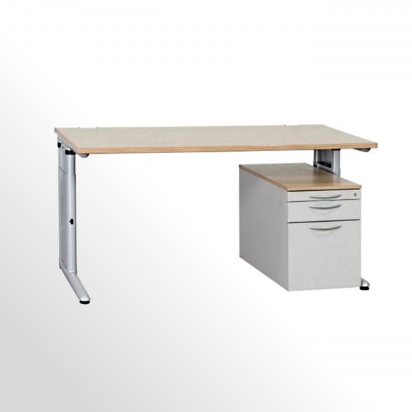 Günstiges, gebrauchtes Werndl Schreibtisch-Rollcontainer-Set