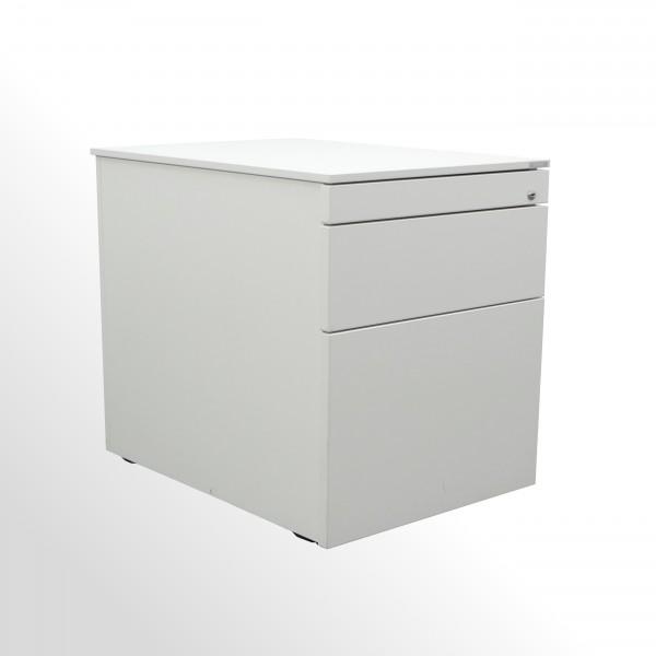 Vario Rollcontainer mit Hängeregistraturlade - Weiß