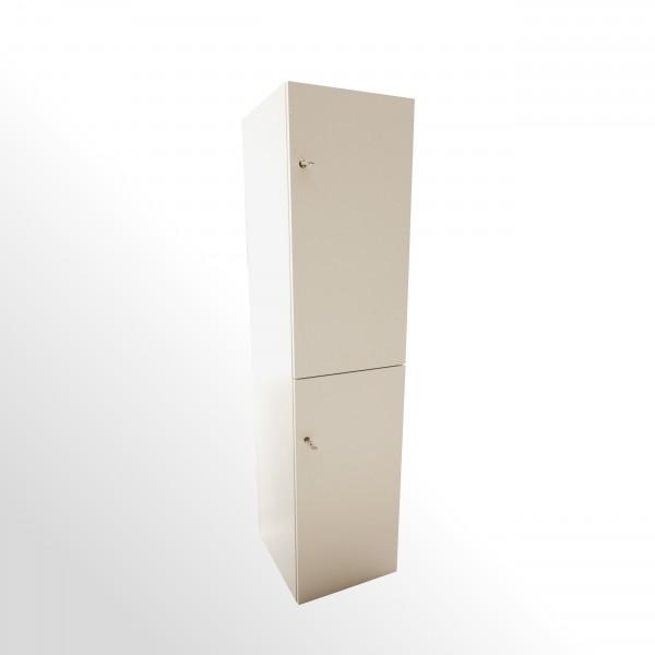 Günstiger Schließfachschrank - Wertfachschrank - weiß - 2x Flügeltür