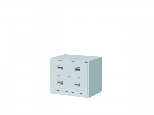 Bisley Hängeregistraturschrank ECO, doppelbahnig, DIN A4, 2 HR-Schubladen, Farbe lichtgrau