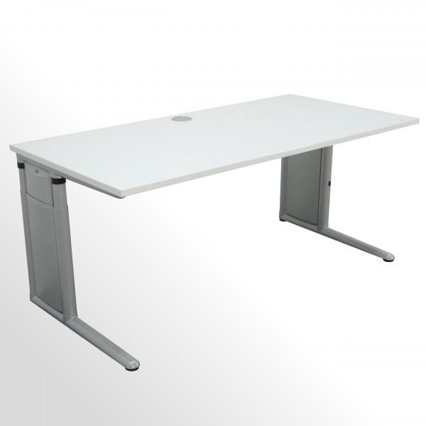 Schreibtisch mit neuer Arbeitsplatte - incl. Kabeldurchlass mittig!