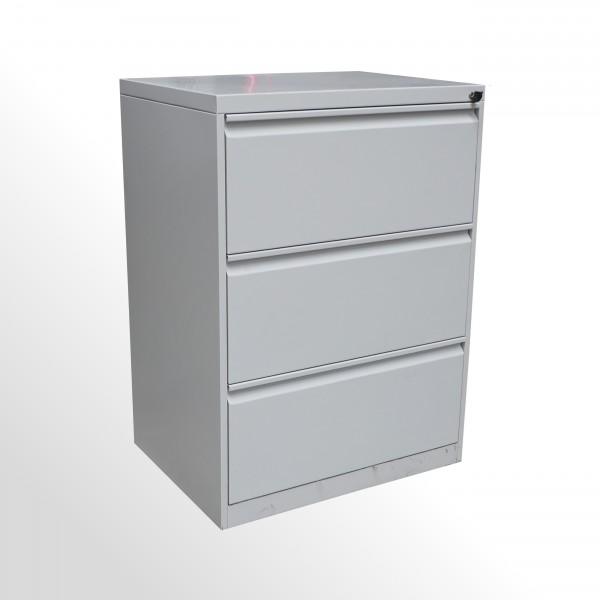 Gebrauchter Schubladenschrank - Stahlschrank - 3 Schubladen - grau