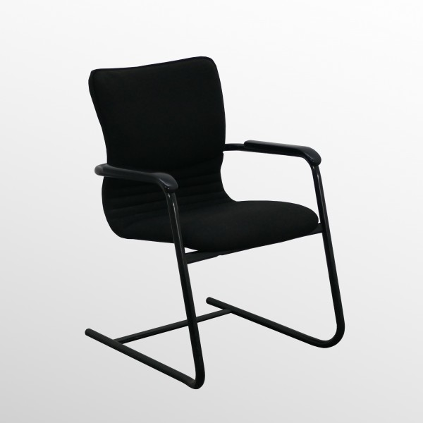 Gebrauchter Comforto Besucher- und Konferenzstuhl - Freischwinger - Stoff schwarz **SONDERPREIS!**
