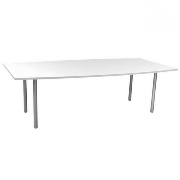 Gebrauchter, günstiger Besprechungs- und Konferenztisch - weiß - 2400x1000 mm