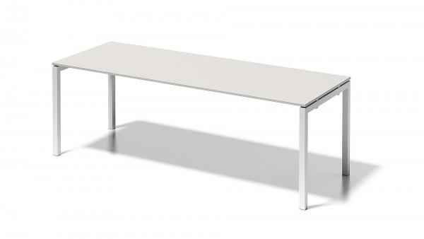 Bisley Cito Schreibtisch, 740 mm höhenfixes U-Gestell, B 2200 x T 800 mm