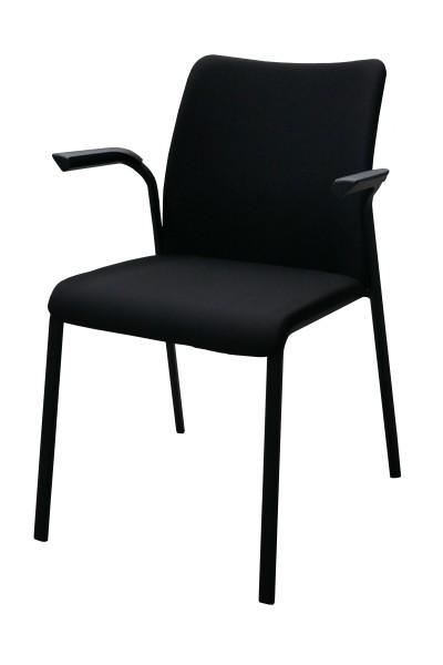 Gebrauchter Steelcase Eastside Besucherstuhl mit Armlehnen - Stoff schwarz