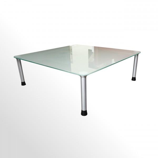 Günstiger, gebrauchter Beistelltisch - Loungetisch - Milchglasplatte