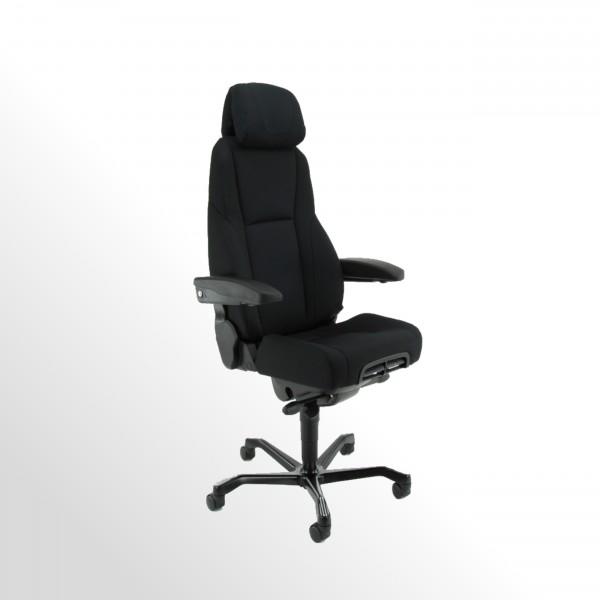 Bürodrehstuhl - Leitstellenstuhl - Xtreme-Stoff schwarz - für den 24h-Einsatz!