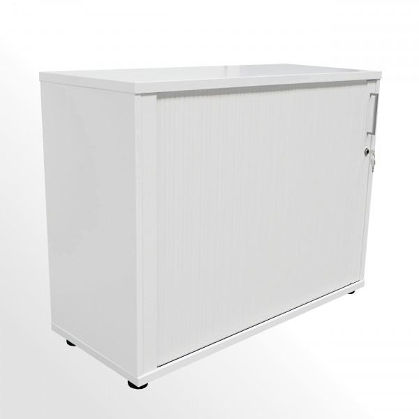Günstiger Rollladenschrank - Aktenschrank - 2 Ordnerhöhen - weiß