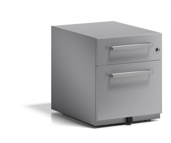 Bisley Rollcontainer Note™ mit Griff, 1 Universalschublade, 1 HR-Schublade; T 565 mm