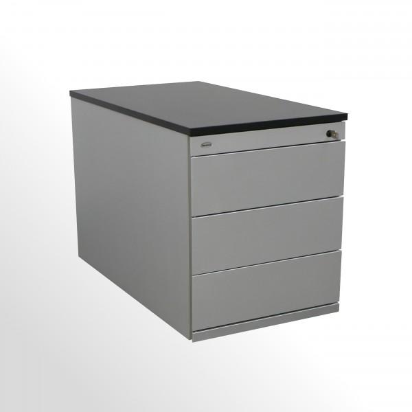 Gebrauchter Werndl Rollcontainer mit neuer Abdeckplatte in Softschwarz