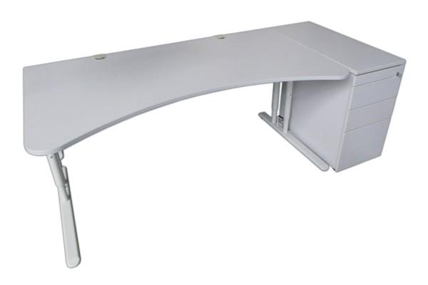 Gebrauchtes Rohde Schreibtisch - Standcontainer - Set - grau