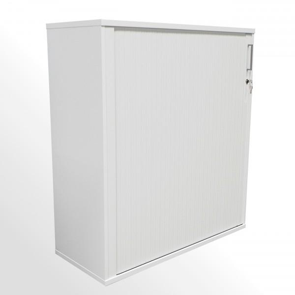 Günstiger Rollladenschrank - Aktenschrank - 3 Ordnerhöhen - weiß