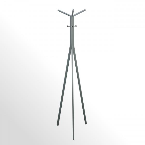 Moderner Design-Garderobenständer - Aluminiumfarben / Chrom