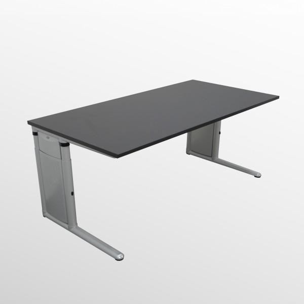 Werndl Schreibtisch mit neuer Arbeitsplatte - Softschwarz
