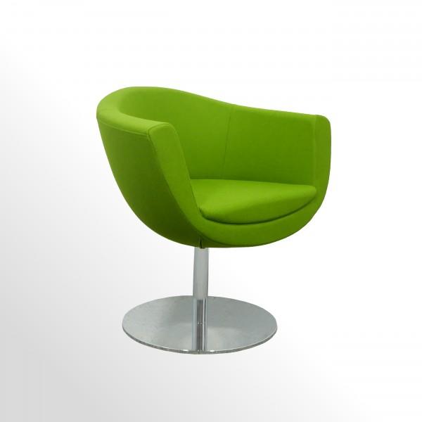 Günstiger Besuchersessel für den Lounge- und Wartebereich - Stoff grün