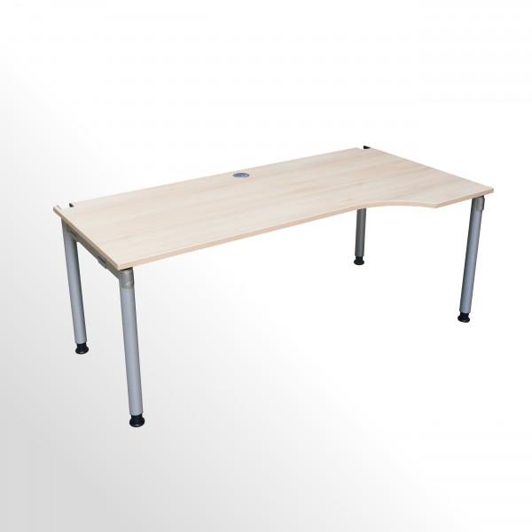 Gebrauchter Palmberg Schreibtisch - Freiformtisch - rechts - Akazie Dekor