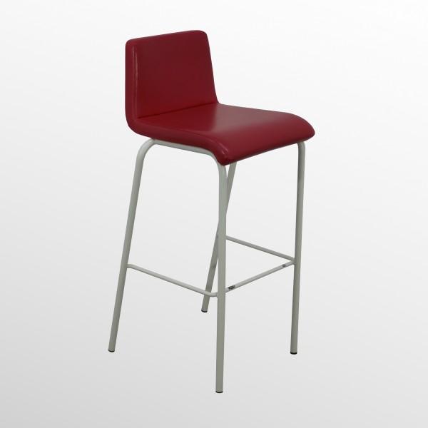 Gebrauchter Steelcase Barhocker - Barstuhl - Leder Rot