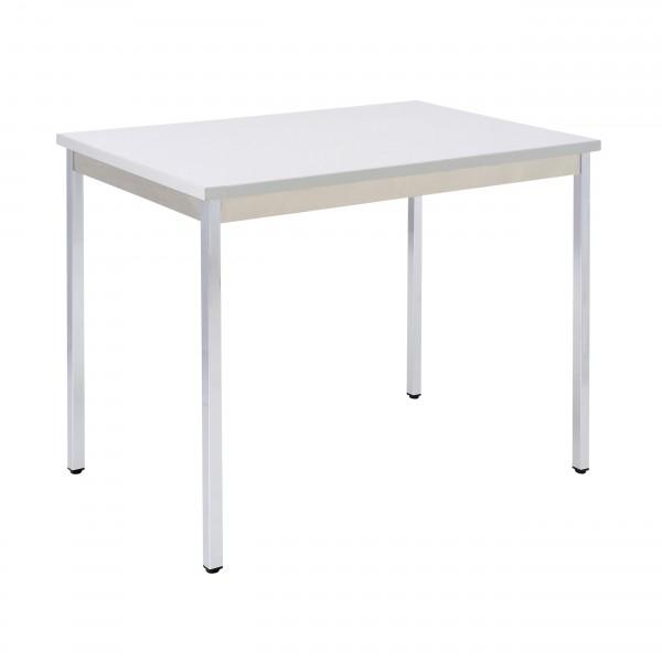 Bisley Mehrzwecktisch, rechteckig, Gestell verchromt, Tischplatte 25 mm, grau; 1200x800