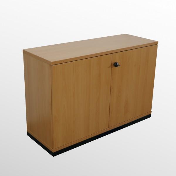 Gebrauchter Werndl Aktenschrank - Beistellschrank mit integriertem Kühlschrank - Buche Dekor