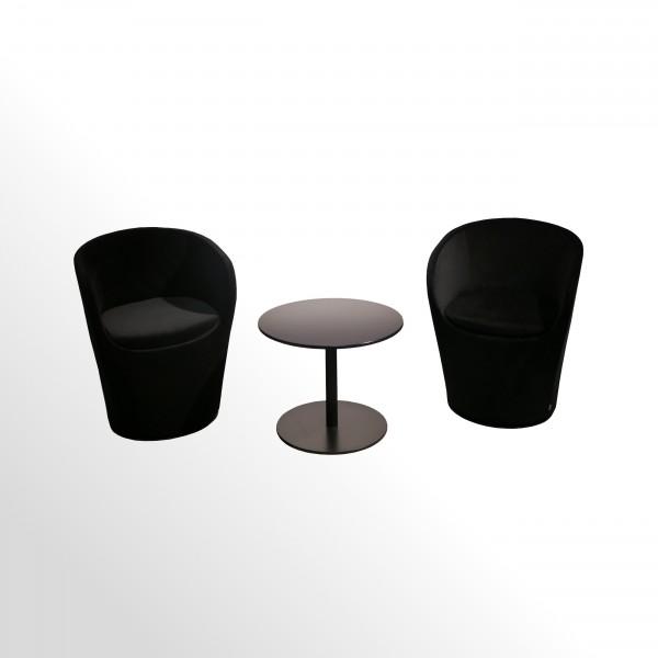 Günstiges Design-Loungesessel-Set incl. Beistelltisch