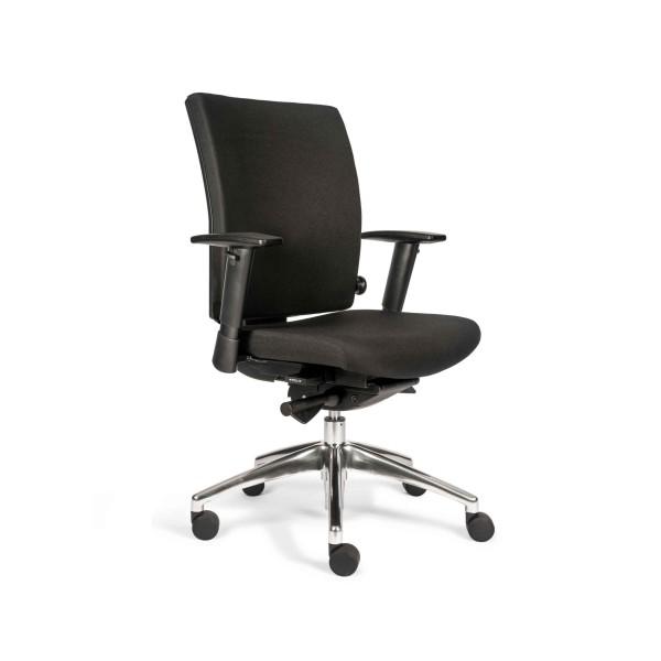 Günstiger Bürodrehstuhl mit Armlehnen und Comfort-Polster