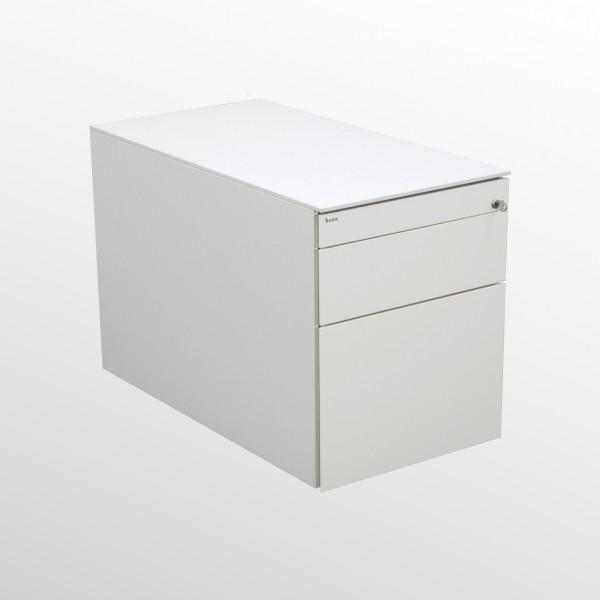 Gebrauchter Bene Rollcontainer mit Hängeregistraturlade - weiß