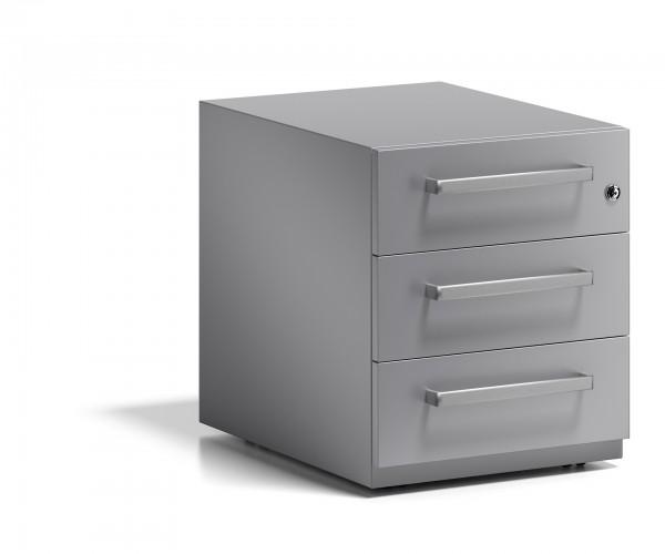 Bisley Rollcontainer Note™ mit Griff, 3 Universalschubladen; T 565 mm