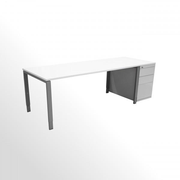 Günstiges Schreibtisch-Standcontainer-Set - Platten neu - weiß **SETPREIS**