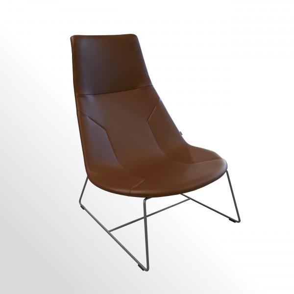 Günstiges Lounge- Sesselelement incl. Otomane für den Wartebereich