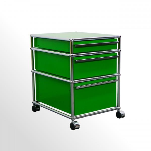 Gebrauchter USM Haller Rollcontainer - USM grün - 3x Schublade