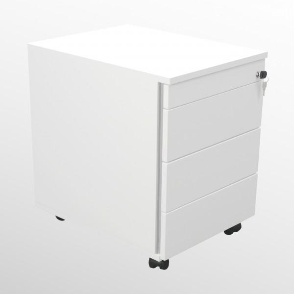 Günstiger Rollcontainer - Untertischcontainer - weiß