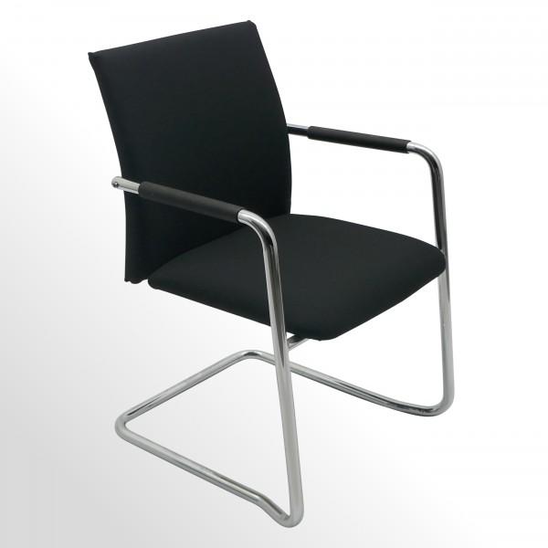 Besucher- und Konferenzstuhl - Haworth Comforto D5588 - mit neu bezogenem Polster!
