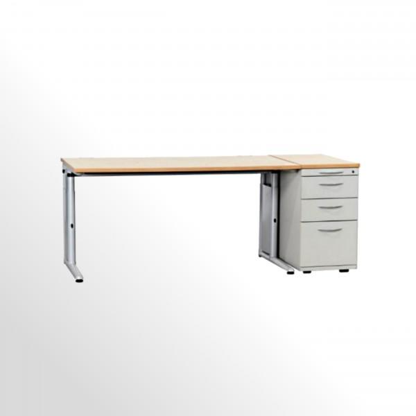 Gebrauchtes Werndl Schreibtisch-Standcontainer-Set - Königsahorn Dekor