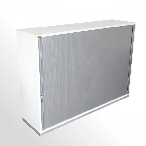 Gebrauchter Palmberg Prisma 2 Rollladenschrank - Aktenschrank - weiß-silber