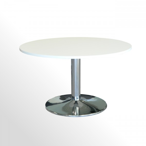 Günstiger Besprechungs- und Konferenztisch mit neuer Platte - weiß