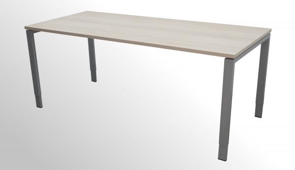 Günstiger Bene Schreibtisch mit neuer Arbeitsplatte - Akazie Dekor