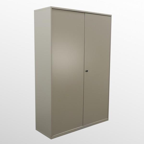 Günstiger, gebrauchter Aktenschrank - Flügeltürenschrank - braun-grau