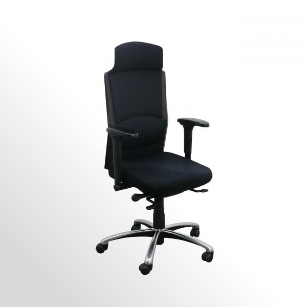 Gebrauchter Köhl Bürodrehstuhl mit Armlehnen und Kopfstütze