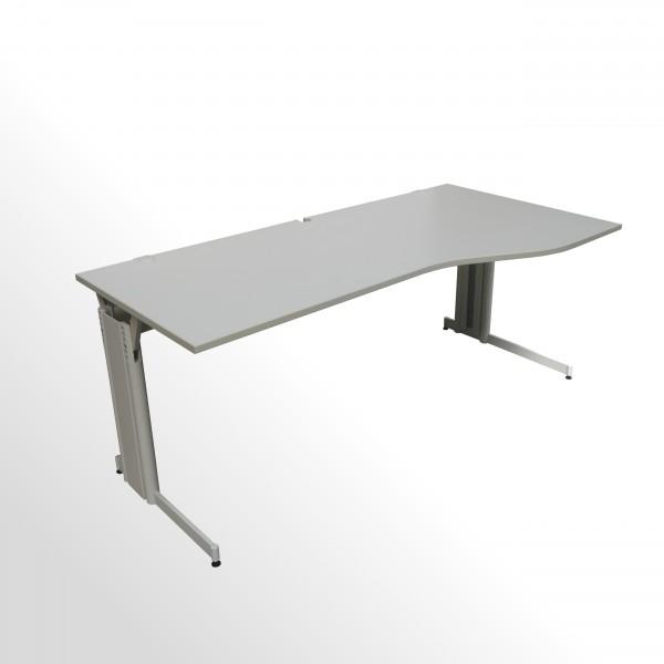 Gebrauchter Schreibtisch - Freiformtisch - 2000x1000 mm - grau - rechts