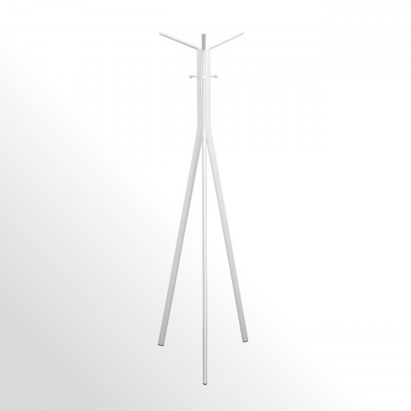 Moderner Design-Garderobenständer - Weiß / Weiß