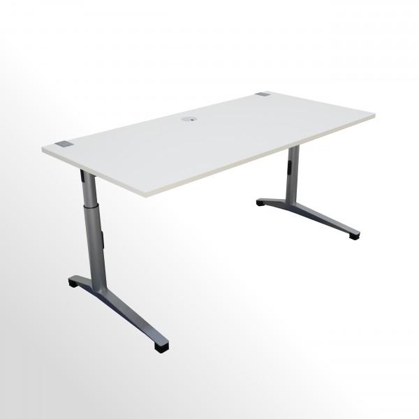 Günstiger, gebrauchter Steelcase Schreibtisch - weiß - B 1600 x T 780 mm