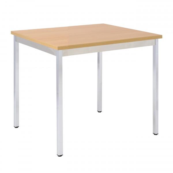 Bisley Mehrzwecktisch, rechteckig, Gestell verchromt, Tischplatte 25 mm, buche; 700x600