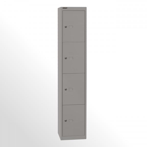 Bisley Schließfachschrank Office, 1 Abteil, 4 Fächer, T 305 mm